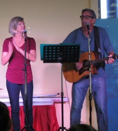 Leading worship at BCF - an international church