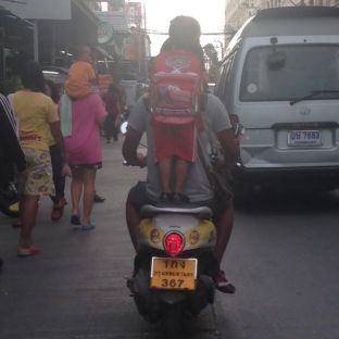 Kids ride every way imaginable