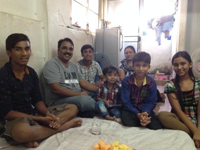 Enjoying fellowship with Pakistani refugee family