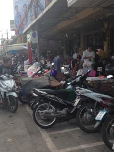 Crowded bustling markets