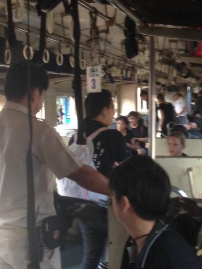Train ride to church family retreat